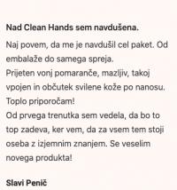 Clean Hands, aromaterapevtsko pršilo za roke (moški)