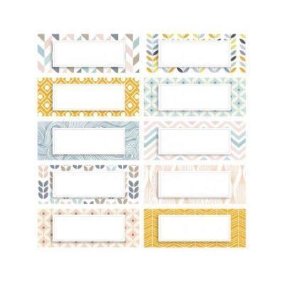 Nalepka Pastel MINI pravokotna (paket 10)