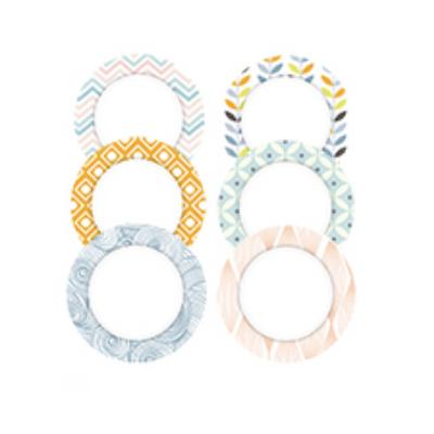 Nalepka Pastel GRAND okrogla (paket 6)