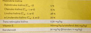 maščobne kisline šipkovo olje